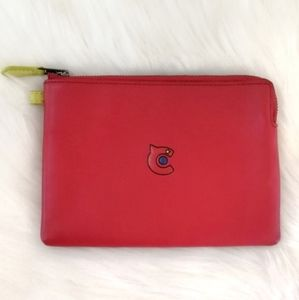 Coach Red Leather 31 Pouch / Clutch